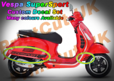 Vespa GTS Super Sport Decal / Sticker Kit GT custom aftermarket